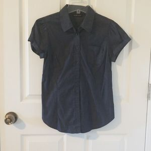 New York & Company Dark Chambray Shirt